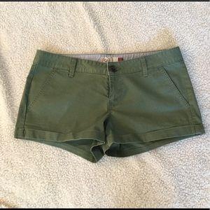 Pants - New green cuffed shorts